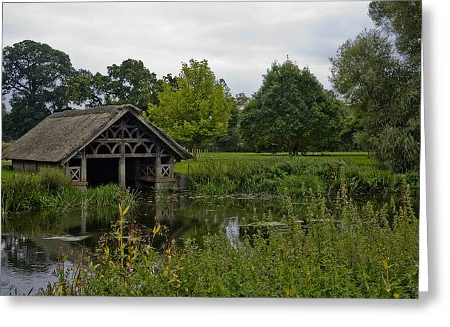 Victorian Boat House Greeting Card by Chris Whittle