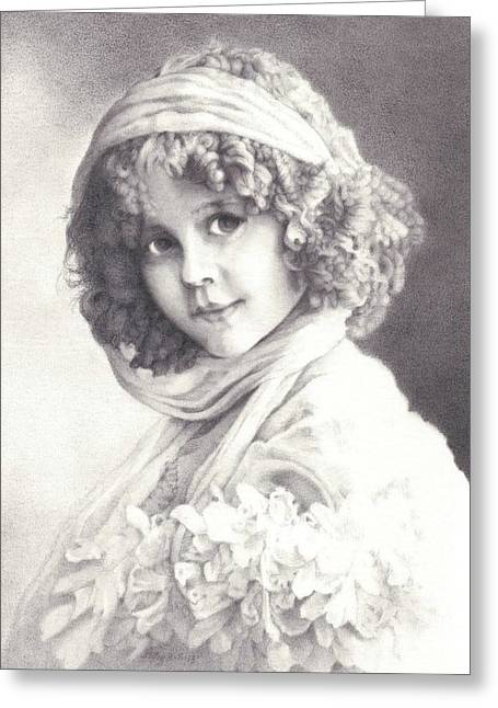 Victorian Child #4 Greeting Card by Patsy Priebe