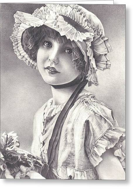 Victorian Child #5 Greeting Card by Patsy Priebe