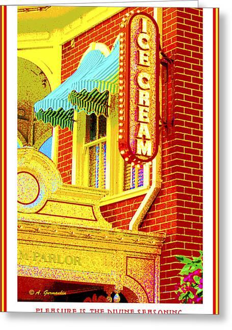 Victorian Era Ice Cream Parlor Magic Kingdom Walt Disney World Greeting Card