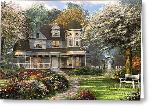 Victorian Home Greeting Card by Dominic Davison