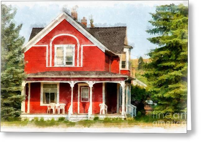 Victorian Home Red Lodge Montana Greeting Card by Edward Fielding