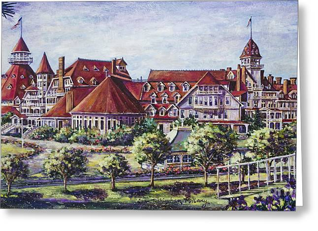 Victorian Hotel Del Greeting Card