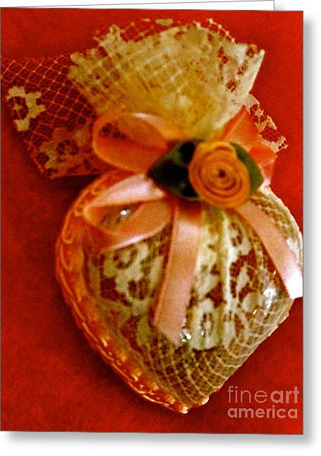 Victorian Lace Heart Study 2 Greeting Card