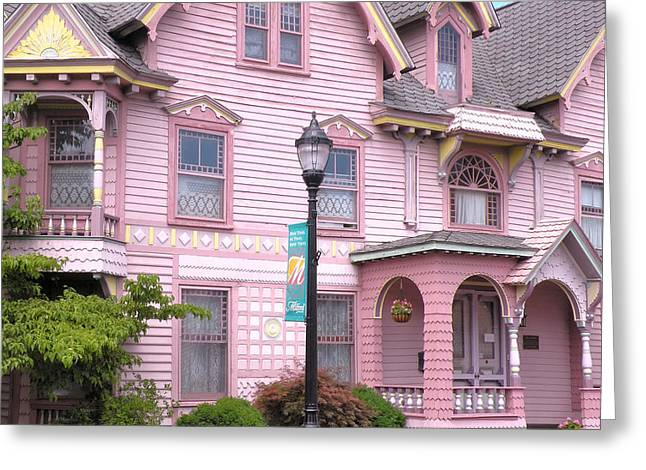 Victorian Pink House - Milford Delaware Greeting Card