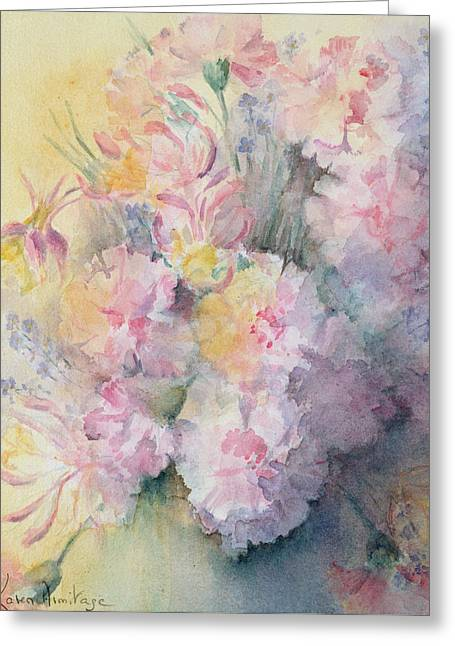 Victorian Posy Greeting Card by Karen Armitage