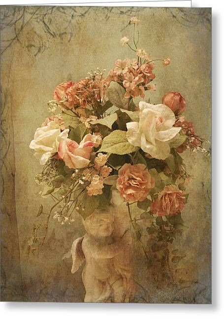 Victorian Rose Floral Greeting Card by TnBackroadsPhotos