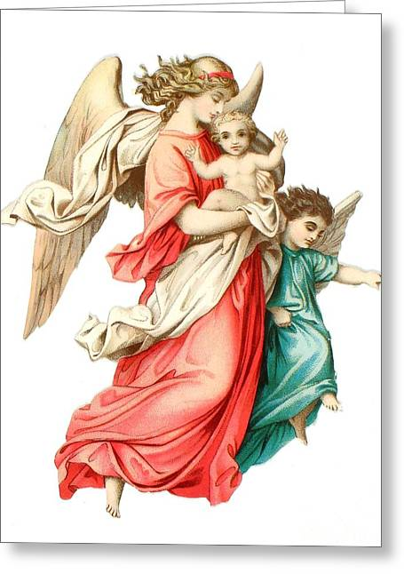 Victorian Scrap Relief Of The Christ Child Greeting Card by English School