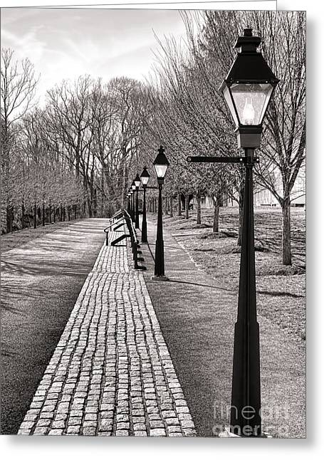 Victorian Street Redux Greeting Card by Olivier Le Queinec
