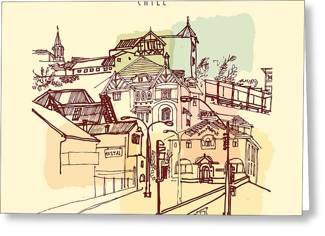 Victorian Style Architecture In Vina Greeting Card