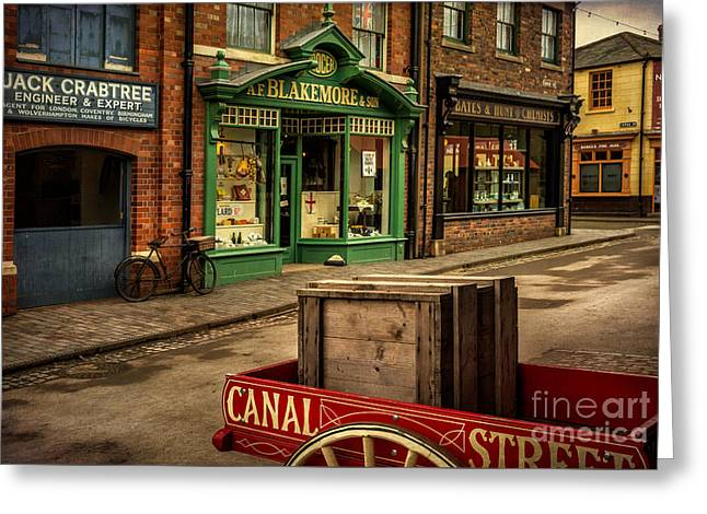 Victorian Town Greeting Card by Adrian Evans