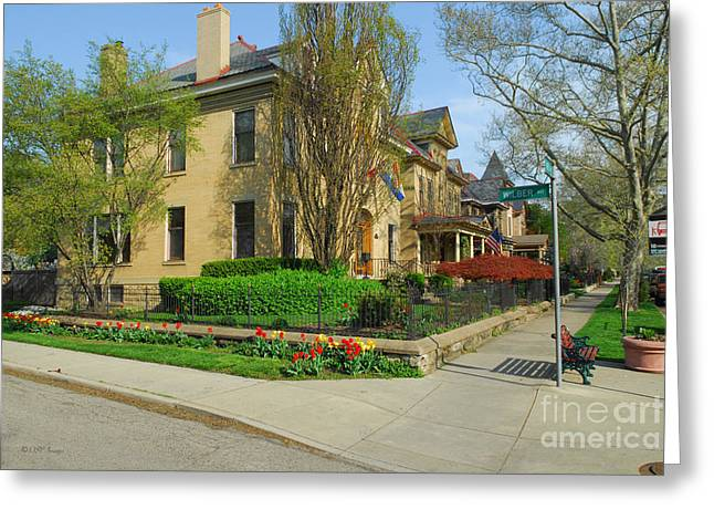 D47l-15 Victorian Village Photo Greeting Card