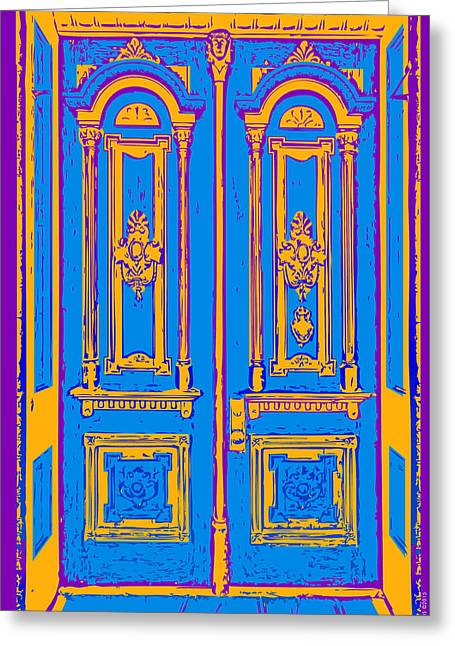 Victoriandoorpopart Greeting Card by Greg Joens
