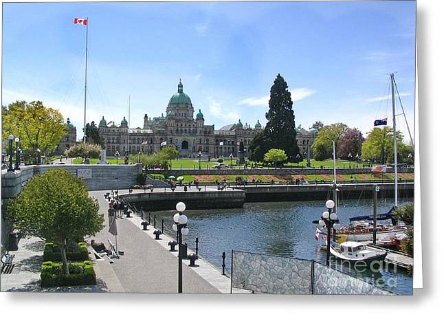 Victoria's Parliament Buildings Greeting Card