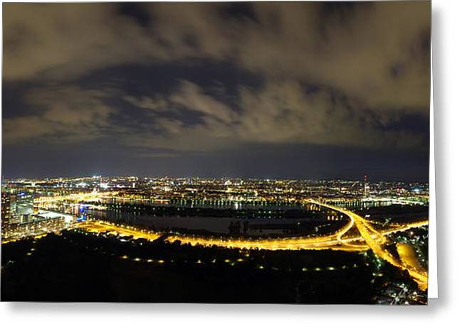 Vienna At Night Greeting Card by Ioan Panaite