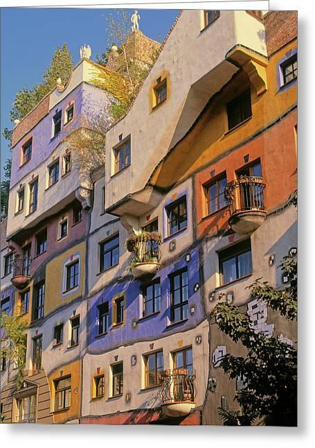 Vienna, Austria. Facade Greeting Card