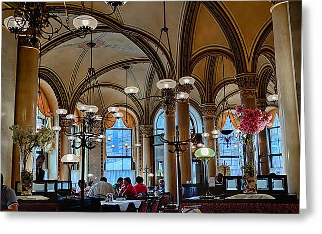 Vienna Central Cafe Greeting Card by Viacheslav Savitskiy