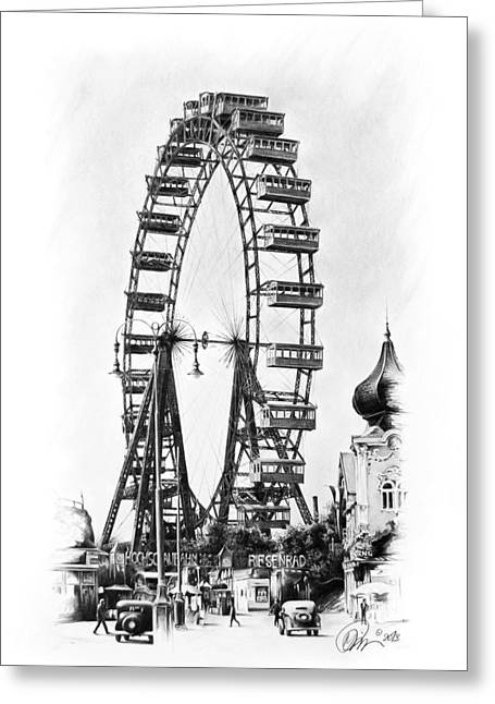 Vienna Ferris Wheel Greeting Card