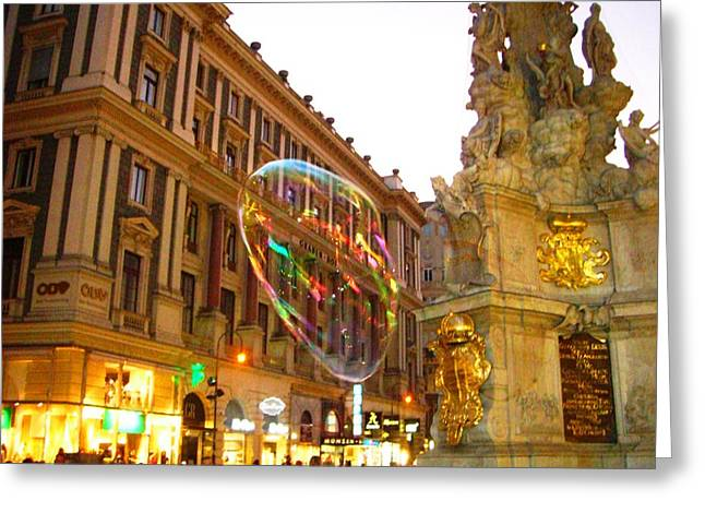 Greeting Card featuring the photograph Vienna by Julia Ivanovna Willhite