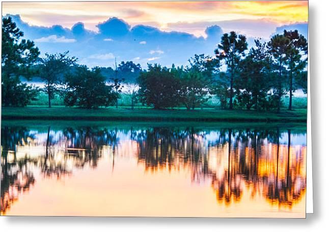 Viera Sunrise Scene 3 Greeting Card by Cliff C Morris Jr