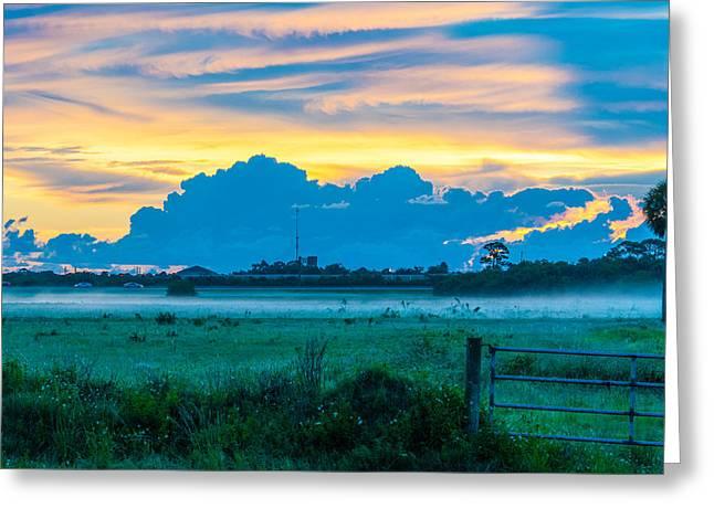 Viera Sunrise Scene 4 Greeting Card by Cliff C Morris Jr
