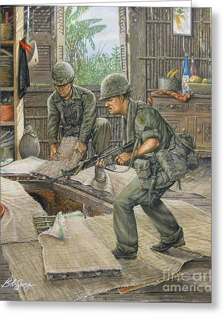Vietnam Tunnels Greeting Card by Bob  George