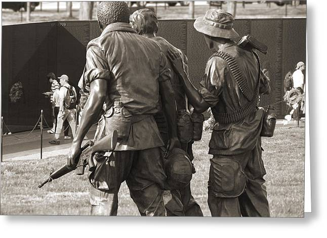 Vietnam Veterans Memorial 2 - Washington Dc Greeting Card by Mike McGlothlen