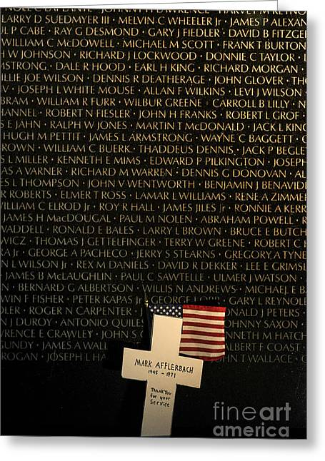 Vietnam Veterans Memorial Greeting Card by John Greim