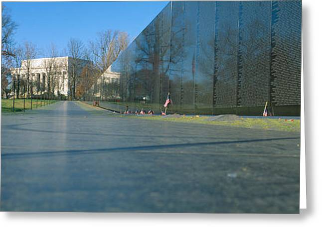 Vietnam Veterans Memorial, Washington Dc Greeting Card by Panoramic Images