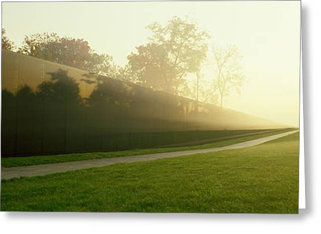 Vietnam Veterans Memorial, Washington Greeting Card by Panoramic Images