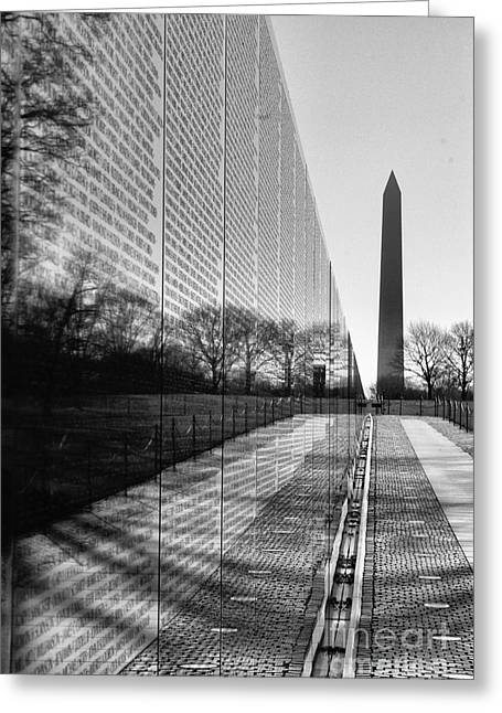 Greeting Card featuring the photograph Vietnam War Memorial Washington Dc by John S