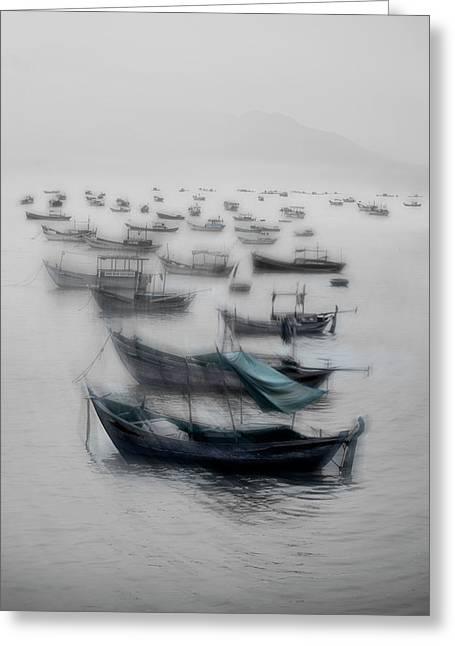 Vietnamese Boats Greeting Card