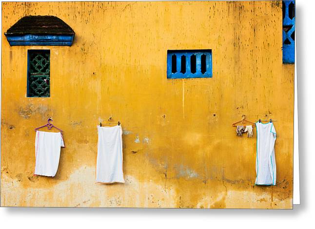 Vietnamese Laundry Greeting Card by Nicole S Young