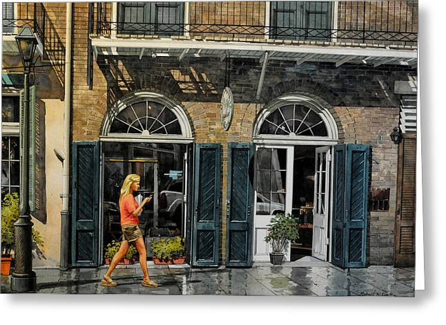 Vieux Carre Girl Greeting Card
