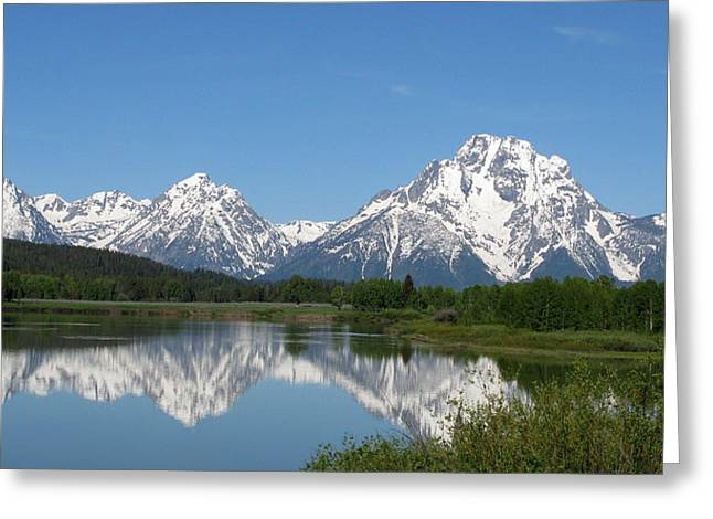 View At Oxbow Bend In Grand Tetons National Park Greeting Card