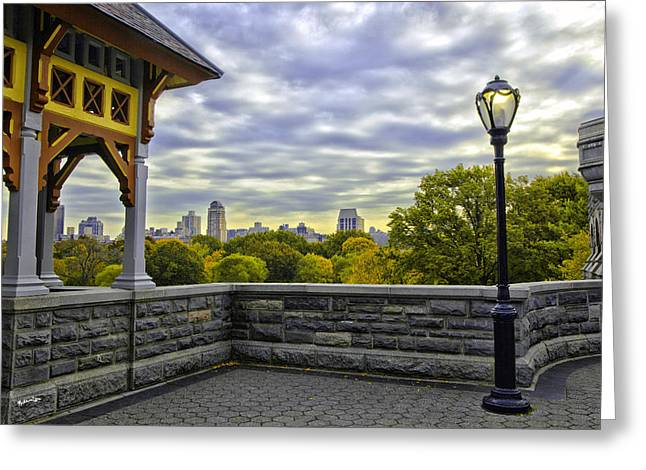 View By Belvedare Castle - Central Park - Nyc Greeting Card by Madeline Ellis