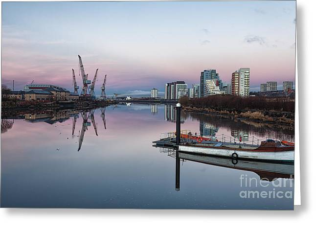 View Down The Clyde. Greeting Card