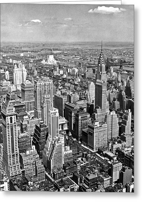View East From Empire State Greeting Card by Underwood Archives