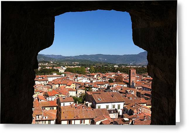 View From A Tower Window In Lucca Greeting Card