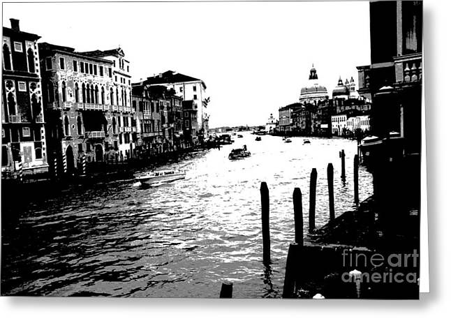 View From Accademia Bridge Greeting Card by Jacqueline M Lewis