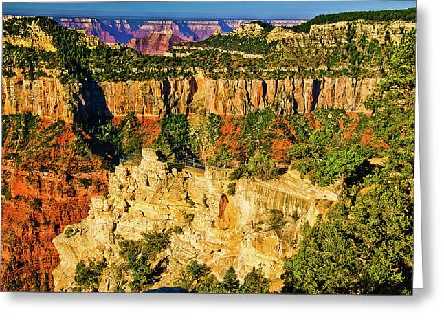 Greeting Card featuring the photograph View From Angel Point  by Bob and Nadine Johnston
