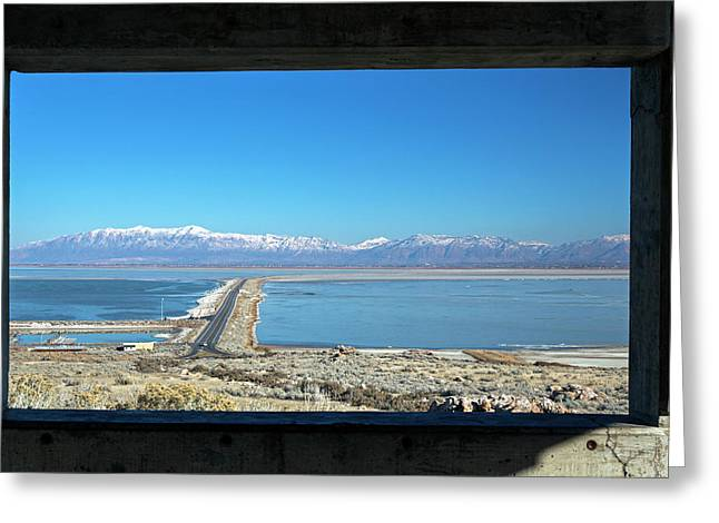 View From Antelope Island Greeting Card by Jim West