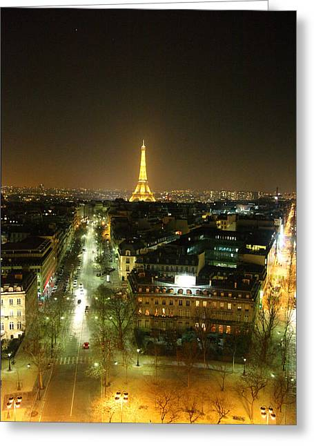 View From Arc De Triomphe - Paris France - 011314 Greeting Card