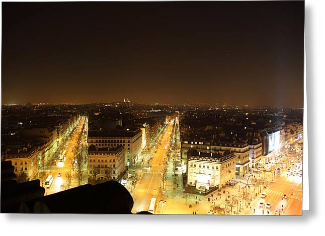 View From Arc De Triomphe - Paris France - 011315 Greeting Card