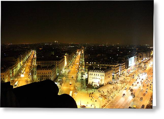 View From Arc De Triomphe - Paris France - 011316 Greeting Card