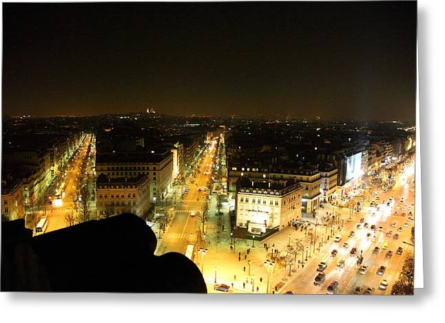 View From Arc De Triomphe - Paris France - 011317 Greeting Card