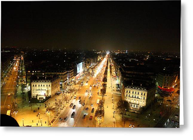 View From Arc De Triomphe - Paris France - 011319 Greeting Card
