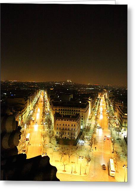 View From Arc De Triomphe - Paris France - 01132 Greeting Card by DC Photographer