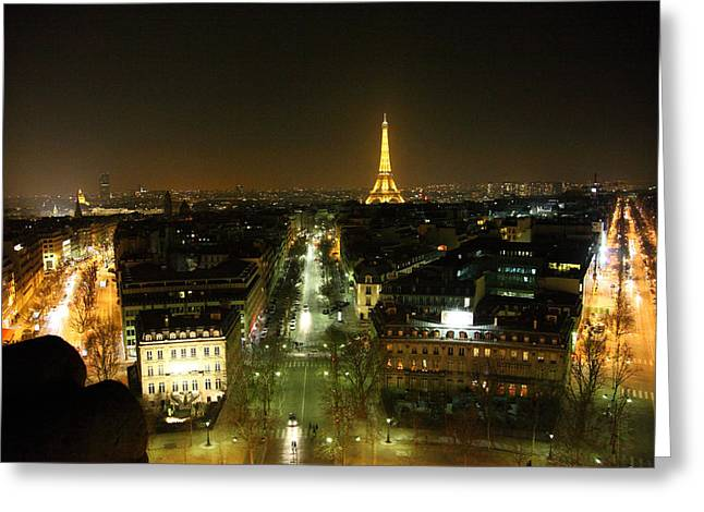 View From Arc De Triomphe - Paris France - 011323 Greeting Card