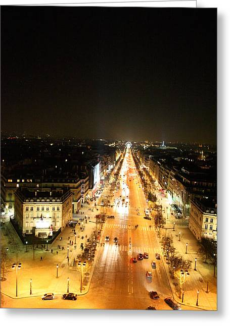 View From Arc De Triomphe - Paris France - 01135 Greeting Card by DC Photographer